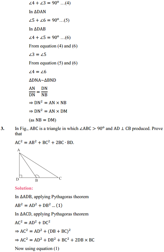 NCERT Solutions for Class 10 Maths Chapter 6 Triangles Ex 6.6 4