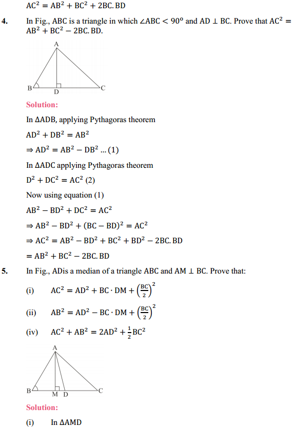 NCERT Solutions for Class 10 Maths Chapter 6 Triangles Ex 6.6 5