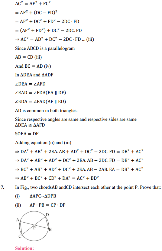 NCERT Solutions for Class 10 Maths Chapter 6 Triangles Ex 6.6 8