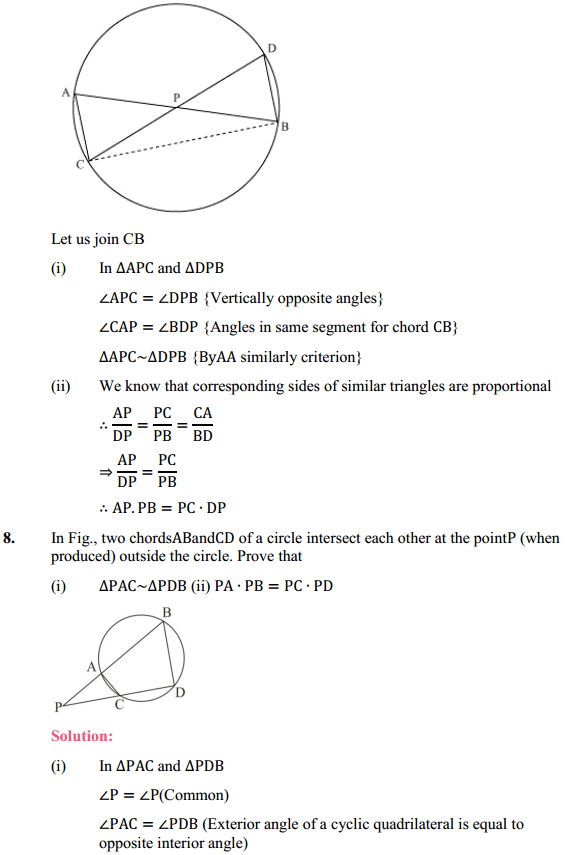 NCERT Solutions for Class 10 Maths Chapter 6 Triangles Ex 6.6 9