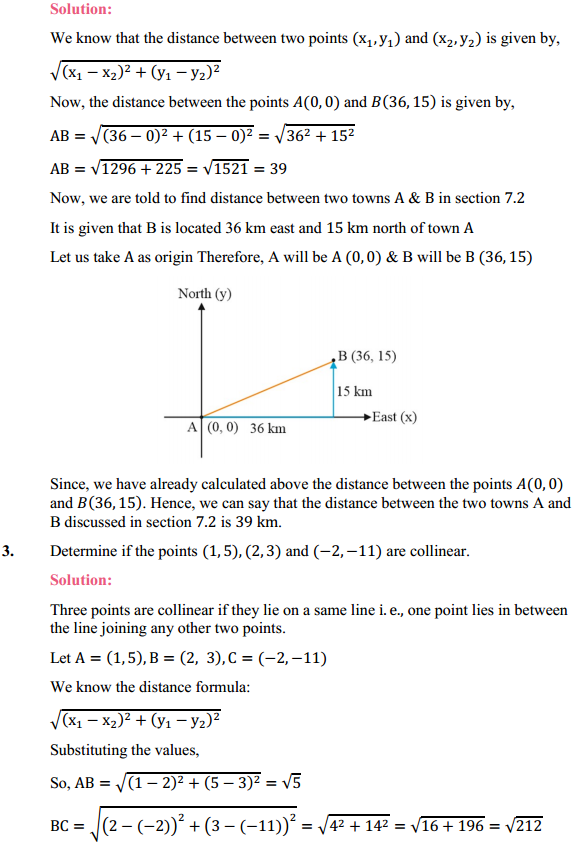 NCERT Solutions for Class 10 Maths Chapter 7 Coordinate Geometry Ex 7.1 2