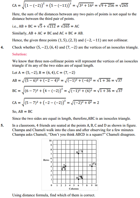 NCERT Solutions for Class 10 Maths Chapter 7 Coordinate Geometry Ex 7.1 3