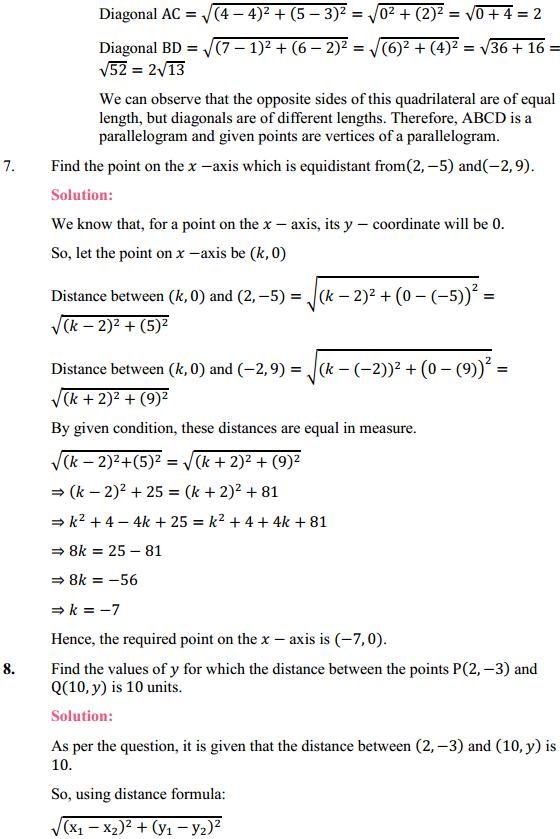 NCERT Solutions for Class 10 Maths Chapter 7 Coordinate Geometry Ex 7.1 6