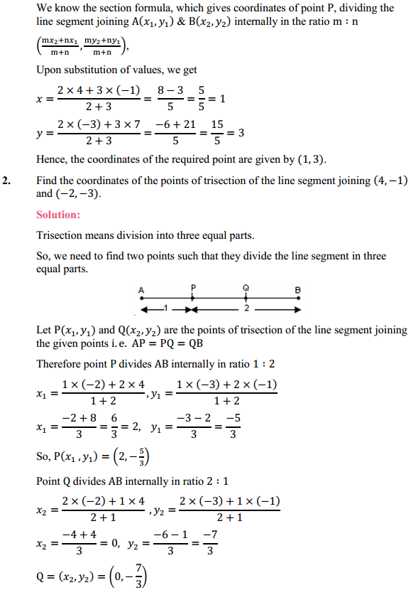 NCERT Solutions for Class 10 Maths Chapter 7 Coordinate Geometry Ex 7.2 2