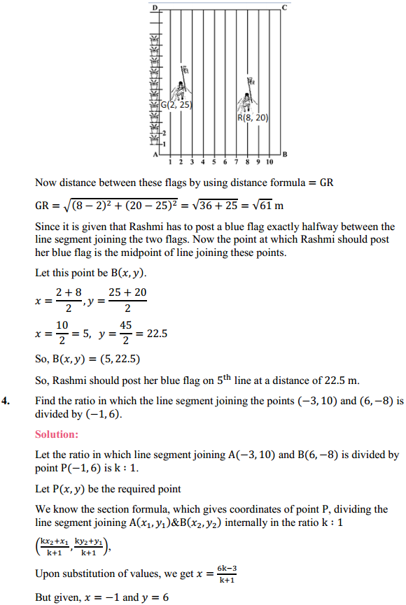 NCERT Solutions for Class 10 Maths Chapter 7 Coordinate Geometry Ex 7.2 4