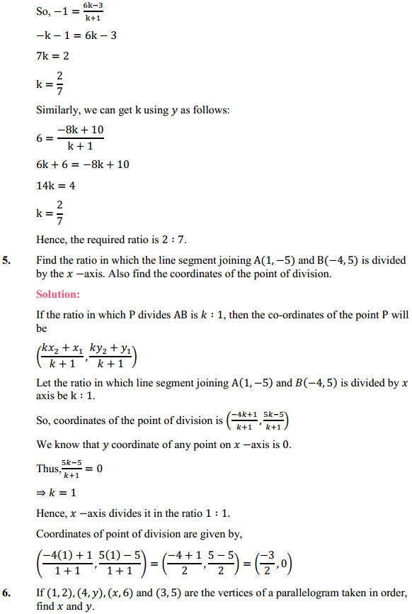 NCERT Solutions for Class 10 Maths Chapter 7 Coordinate Geometry Ex 7.2 5