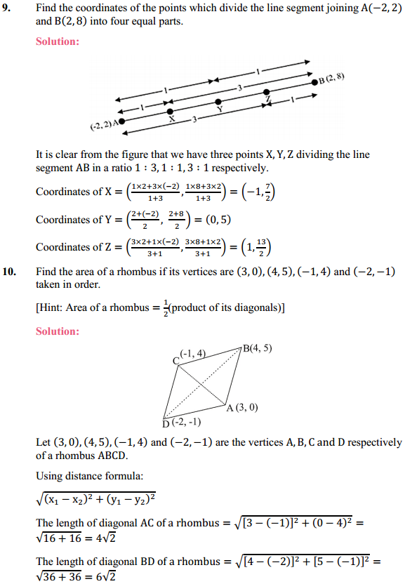 NCERT Solutions for Class 10 Maths Chapter 7 Coordinate Geometry Ex 7.2 8