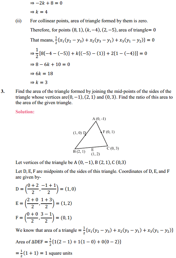 NCERT Solutions for Class 10 Maths Chapter 7 Coordinate Geometry Ex 7.3 2