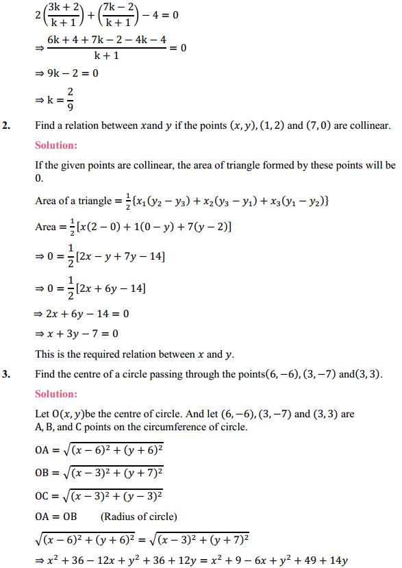 NCERT Solutions for Class 10 Maths Chapter 7 Coordinate Geometry Ex 7.4 2