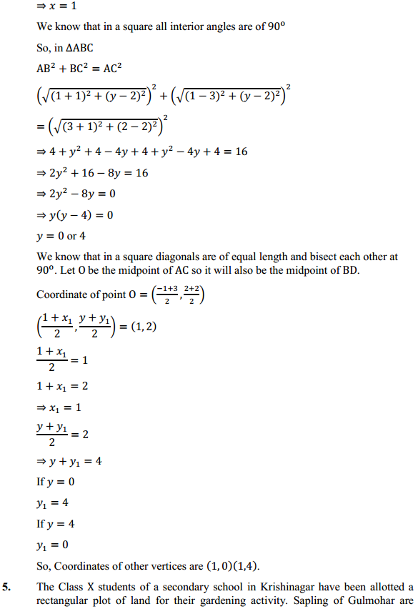 NCERT Solutions for Class 10 Maths Chapter 7 Coordinate Geometry Ex 7.4 4