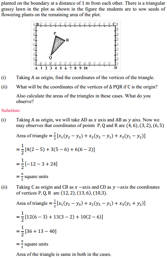 NCERT Solutions for Class 10 Maths Chapter 7 Coordinate Geometry Ex 7.4 5