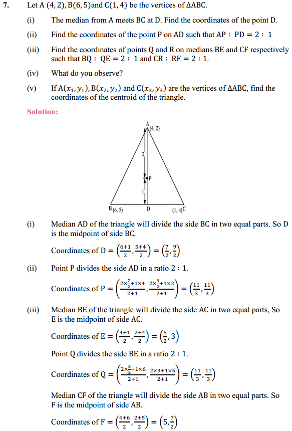 NCERT Solutions for Class 10 Maths Chapter 7 Coordinate Geometry Ex 7.4 7