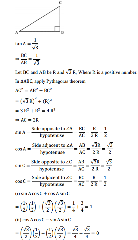 NCERT Solutions for Class 10 Maths Chapter 8 Introduction to Trigonometry Ex 8.1 15