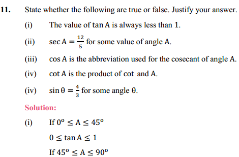 NCERT Solutions for Class 10 Maths Chapter 8 Introduction to Trigonometry Ex 8.1 18