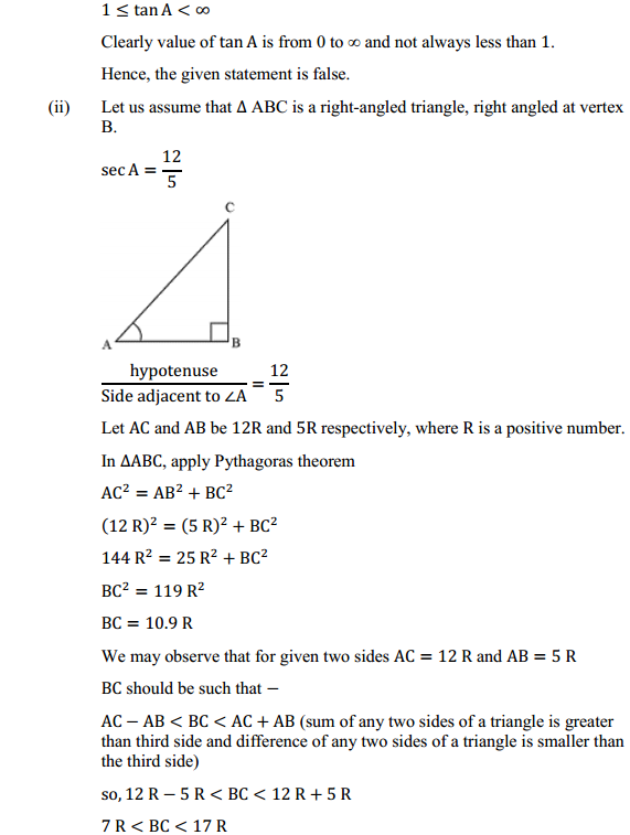 NCERT Solutions for Class 10 Maths Chapter 8 Introduction to Trigonometry Ex 8.1 19