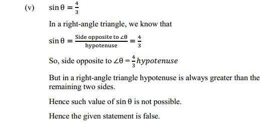 NCERT Solutions for Class 10 Maths Chapter 8 Introduction to Trigonometry Ex 8.1 21