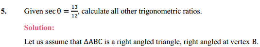 NCERT Solutions for Class 10 Maths Chapter 8 Introduction to Trigonometry Ex 8.1 7