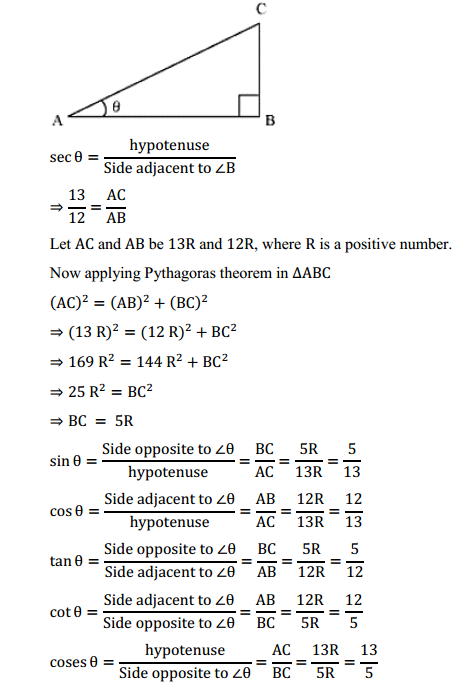 NCERT Solutions for Class 10 Maths Chapter 8 Introduction to Trigonometry Ex 8.1 8