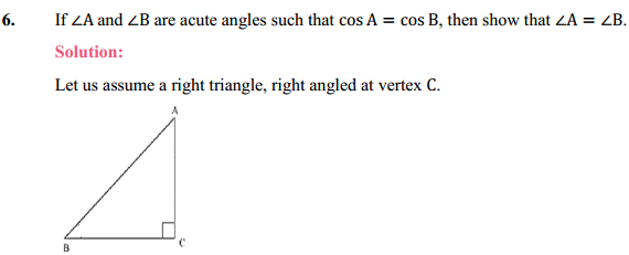NCERT Solutions for Class 10 Maths Chapter 8 Introduction to Trigonometry Ex 8.1 9