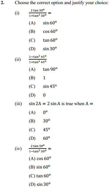 NCERT Solutions for Class 10 Maths Chapter 8 Introduction to Trigonometry Ex 8.2 4