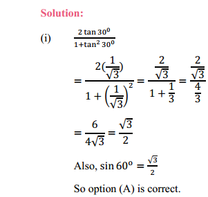 NCERT Solutions for Class 10 Maths Chapter 8 Introduction to Trigonometry Ex 8.2 5
