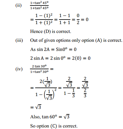 NCERT Solutions for Class 10 Maths Chapter 8 Introduction to Trigonometry Ex 8.2 6