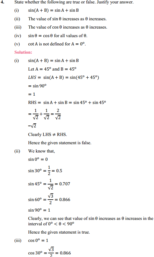 NCERT Solutions for Class 10 Maths Chapter 8 Introduction to Trigonometry Ex 8.2 8
