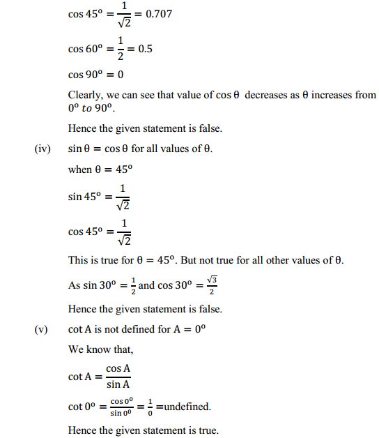 NCERT Solutions for Class 10 Maths Chapter 8 Introduction to Trigonometry Ex 8.2 9
