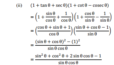 NCERT Solutions for Class 10 Maths Chapter 8 Introduction to Trigonometry Ex 8.4 5