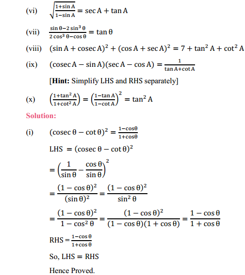 NCERT Solutions for Class 10 Maths Chapter 8 Introduction to Trigonometry Ex 8.4 8