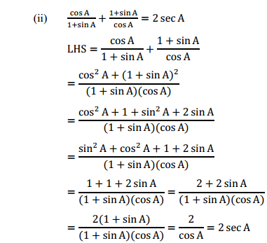 NCERT Solutions for Class 10 Maths Chapter 8 Introduction to Trigonometry Ex 8.4 9