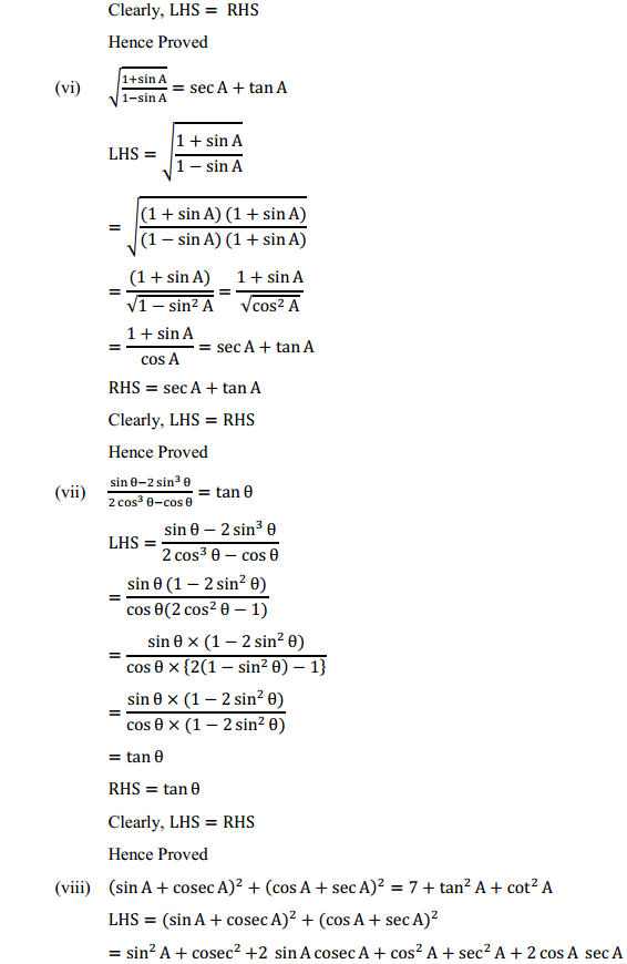 NCERT Solutions for Class 10 Maths Chapter 8 Introduction to Trigonometry Ex 8.4 13
