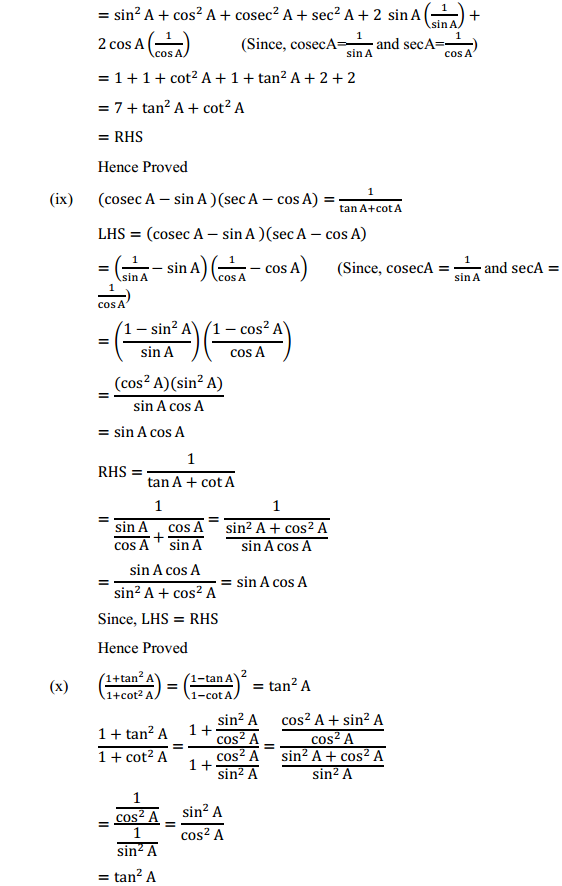 NCERT Solutions for Class 10 Maths Chapter 8 Introduction to Trigonometry Ex 8.4 14