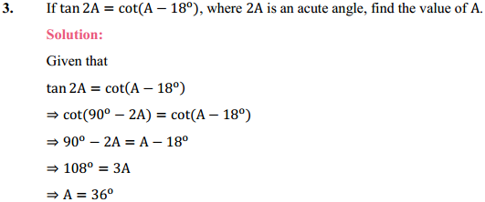 NCERT Solutions for Class 10 Maths Chapter 8 Introduction to Trigonometry Ex 8.3 3