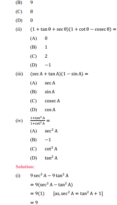 NCERT Solutions for Class 10 Maths Chapter 8 Introduction to Trigonometry Ex 8.4 4
