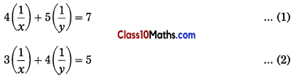 Linear Equations in Two Variables Maths Notes 11