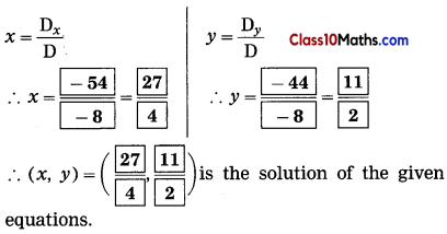 Linear Equations in Two Variables Maths Notes 8