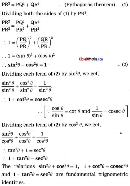 Trigonometry Maths Notes 12